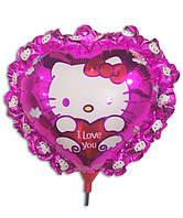 Воздушные шары фольга Китти на палочке