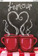 """Схема для вышивки бисером """"Чашка влюблённых"""""""