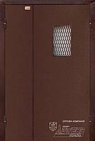 Подъезные полуторные двери со стеклом