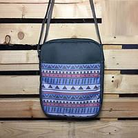 Месенджер\мессенджер (сумка на плече) - Milk Clothing - Classic Aztec/Gray