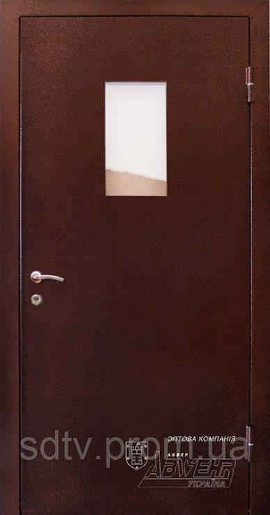 Техническая дверь со стеклом - Cвіт дверей та вікон в Житомире