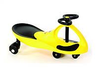 Машинка детская, БИБИКАР с полиуретановыми колесами, желтая