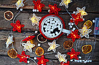 """Гірлянда з плетених зірочок на батарейках """"Любимая моя"""", фото 1"""