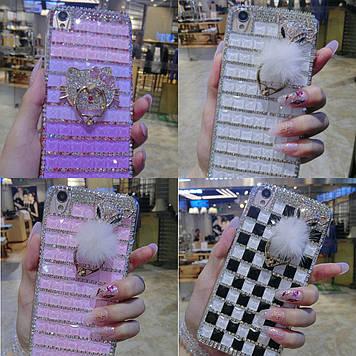 """MEIZU U10 оригинальный чехол накладка бампер со стразами камнями  для телефона """"RIA"""""""