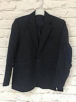 Пиджак для мальчика шерстяной, темно-синий на рост 146-164