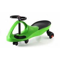 Машинка детская, БИБИКАР с полиуретановыми колесами, зеленая