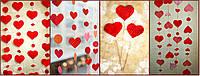 Гирлянды сердца из картона и гофро бумаги