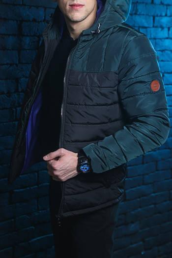 Куртка мужская Double Colour Spring Jacket (Green - Black ) Зелено-черный 🔥