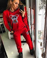Костюм Doratti женский спортивный на флисе свитшот и брюки 3 цвета Ddor264