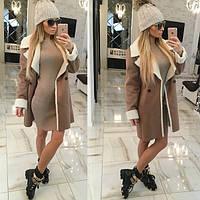 Женское пальто-дубленка а826