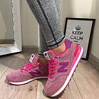 Розовые кроссовки NB,обувной текстиль женские кроссовки нью беленс для спорта