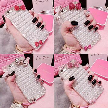 """MEIZU U10 оригинальный чехол накладка бампер со стразами камнями  для телефона """"SAFI"""""""