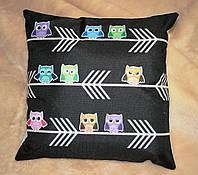 "Декорированные наволочки на диванные подушки ""Совушки"""