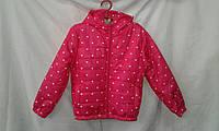 Куртка детская   ''Сердца'' для девочки 4-8 лет, малиновая
