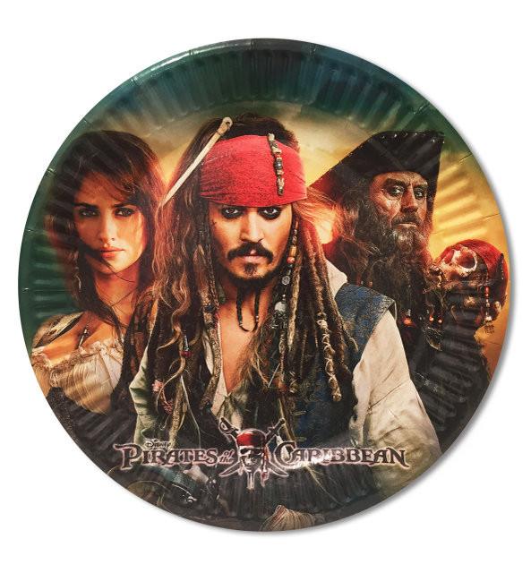 """Тарелки бумажные одноразовые """"Пираты карибского моря"""", 10 шт."""