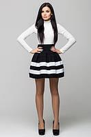 Стильная женская    черно-белая  юбка    Радуга    Leo Pride 42-44 размеры