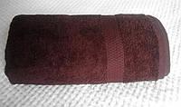 Полотенце махровое с бордюром 70х140 тёмный шоколад 400 г/м²