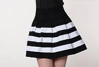 Стильная    черно-белая  юбка    Радуга    Leo Pride 42-44 размеры