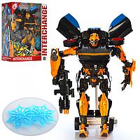 Робот трансформер Бамблби Bumblebee Шмель звук свет фар 45 см