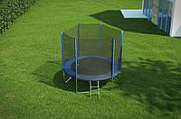 Батут Hop-Sport диаметром 244см (8ft) спортивный для детей с лестницей и внешней сеткой
