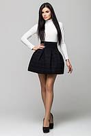 Стильная   женская черная  юбка    Радуга    Leo Pride 42-44 размеры