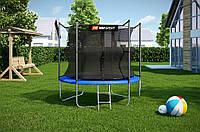 Батут Hop-Sport диаметром 244см (8ft) спортивный для детей с лестницей и внутренней сеткой