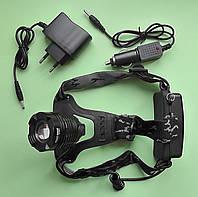 Налобный светодиодный фонарь ТК-6 на аккумуляторах, с зарядными устройствами
