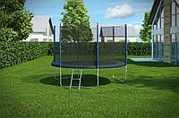 Батут Hop-Sport диаметром 305см (10ft) спортивный для детей с лестницей и внешней сеткой