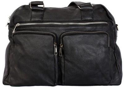 Дорожная сумка 30402 кожзам, малая, 18 л, черная