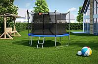 Батут Hop-Sport диаметром 305см (10ft) спортивный для детей с лестницей и внутренней сеткой
