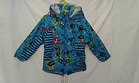 Куртка  подросток парка для мальчика 6-10 лет,синяя