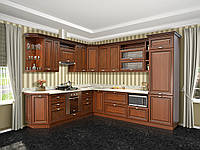 Кухня Роксана прованс темный патина МДФ под заказ, фото 1