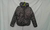 Куртка детская   ''Горох'' для девочки 4-8 лет, черная