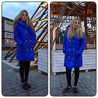 Женско пальто теплое кнопки б239