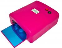 Ультрафиолетовая лампа для сушки геля, гель-лака на 36 Вт W-818,розовая