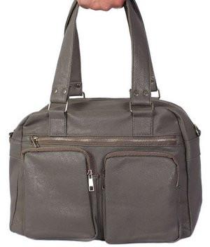 Дорожная сумка 30403 из кожзама, 18 л,  серая