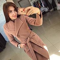 """Модное карамельное кашемировое пальто """" Глянец """" с пуговичками. Арт- 8786/74"""