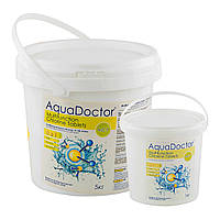 Средство для дезинфекции воды бассейна хлор мультитаб AquaDOCTOR, 1 кг (в таблетках по 200 гр)