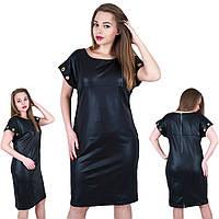 """Черное стильное платье """"блочки"""". Размер 52,54,56 .58 Код 568, фото 1"""
