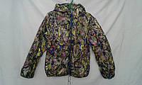 Куртка детская   ''Цветная'' для девочки 4-8 лет, зеленая
