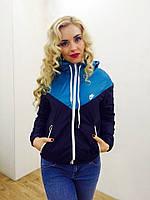 Куртка - ветровка женская на флисе