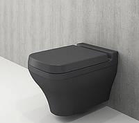 Унітаз підвісний BOCCHI SCALA ARCH 1080-020-0129+А0322-020 сидіння дюропласт антрацит матовий