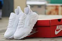 Подростковые беговые белые кроссовки Найки хуарачи