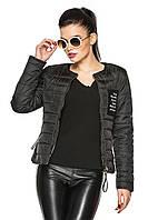 Молодежная женская куртка Виолетта (черный) 50