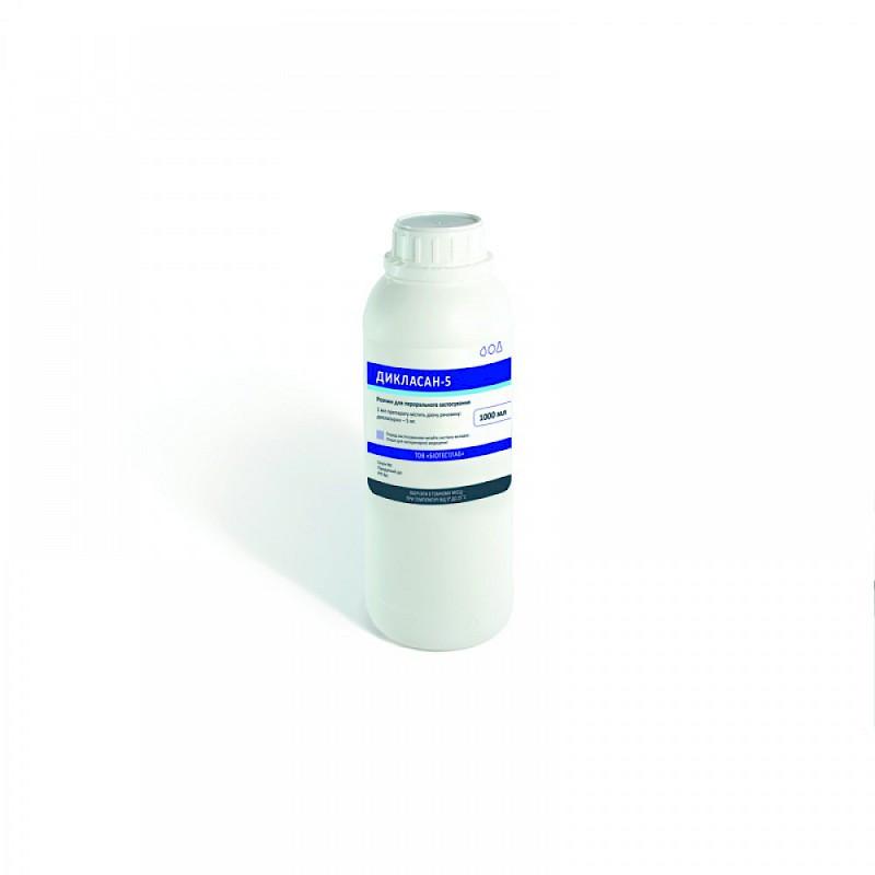 Дикласан-5 (диклазурил 5 мг) 1 л препарат для профилактики и лечения кокцидиоза у цыплят, кроликов и поросят