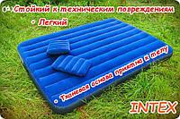 Надувной двухспальный матрас с подушками 203х152х22см