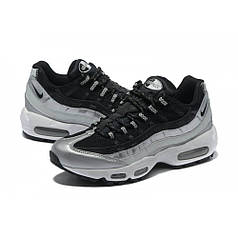 Мужские кроссовки Nike Air Max 95 Black/Grey топ реплика