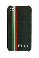 Чехол для iPhone 4/4s FIAT 500 Carbon stripes back cover, черный