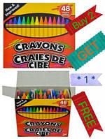 Cra-Z-Art Crayons Восковые карандашы и точило 48 шт (Тайланд)