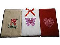 Подарочный набор полотенец с вышивкой 3шт Бабочка